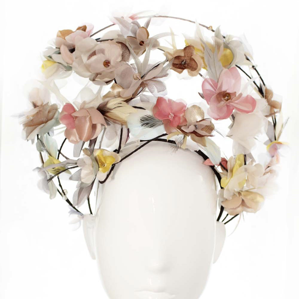 Bonnie evelyn millinery madonna wears pastels crown pastel silk previous mightylinksfo
