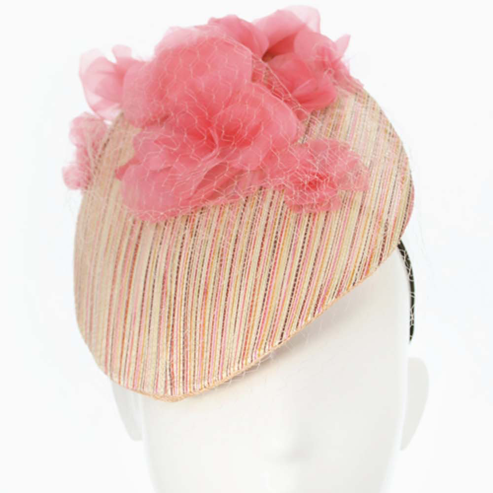 Bonnie evelyn millinery percher hat rainbow straw with coral previous mightylinksfo